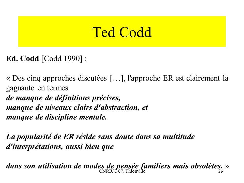 Ted Codd Ed. Codd [Codd 1990] :